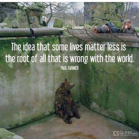 The idea that some lives matter less