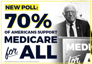 70% of Americans support Medicare For All