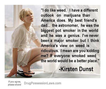 Kirsten Dunst on marijuana