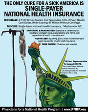 Single-payer health care PNHP poster
