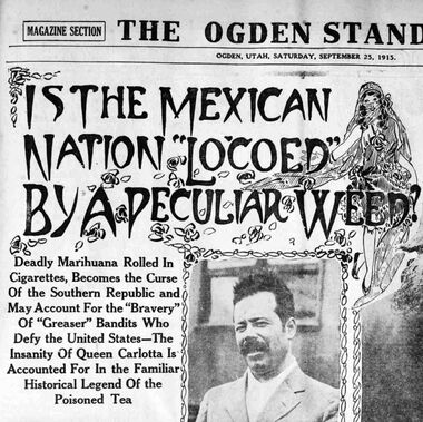 1915 article on deadly marihuana and Mexico