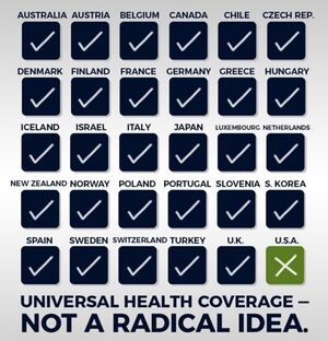 Universal health coverage. Not a radical idea