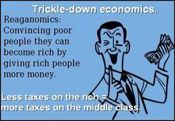 Reagonomics. Give rich people money