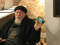 John Sinclair purchases recreational cannabis on Dec 1, 2019 in Ann Arbor, Michigan on opening day
