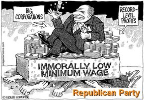 Minimum wage servers for Republican Party