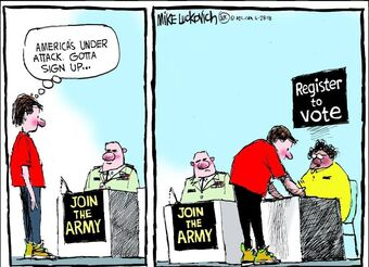America's under attack. Gotta sign up