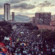 Medellin 2014 May 3 Colombia crowd