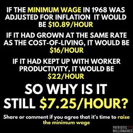 If the minimum wage in 1968 was adjusted for inflation