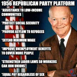 1956 Republican platform during President Eisenhower's reelection campaign