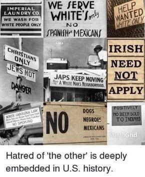 US bigotry