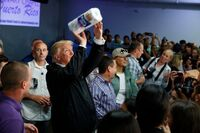 Trump paper towel toss in Puerto Rico