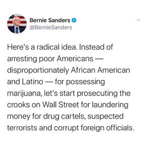 Bernie Sanders. Here's a radical idea