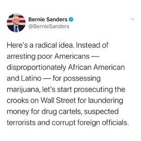 Bernie Sanders. Here's a radical idea