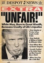 Unfair! White man, born to great wealth, bemoans cruelty of life's injustice