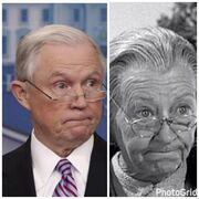 Jeff Sessions and Granny from Beverly Hillbillies