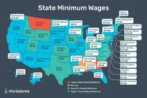 2020 US minimum wage map
