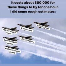 It costs about $60,000 for these things to fly for one hour