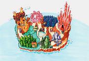 Quiz & Dragons Capcom Quiz Game world map