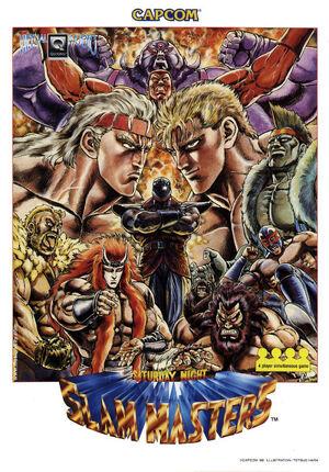Saturday Night Slam Masters arcade flyer