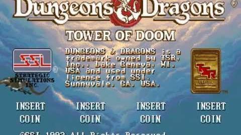 (Demo) ダンジョンズ&ドラゴンズ TOD D&D Tower of Doom (C)Capcom 1994