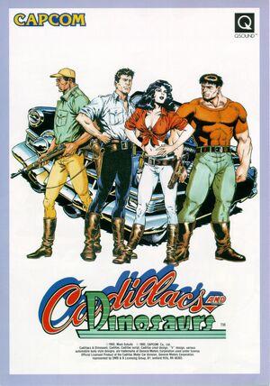 Cadillacs and Dinosaurs arcade flyer