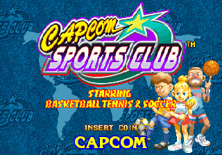 Capcom Sports Club title screen