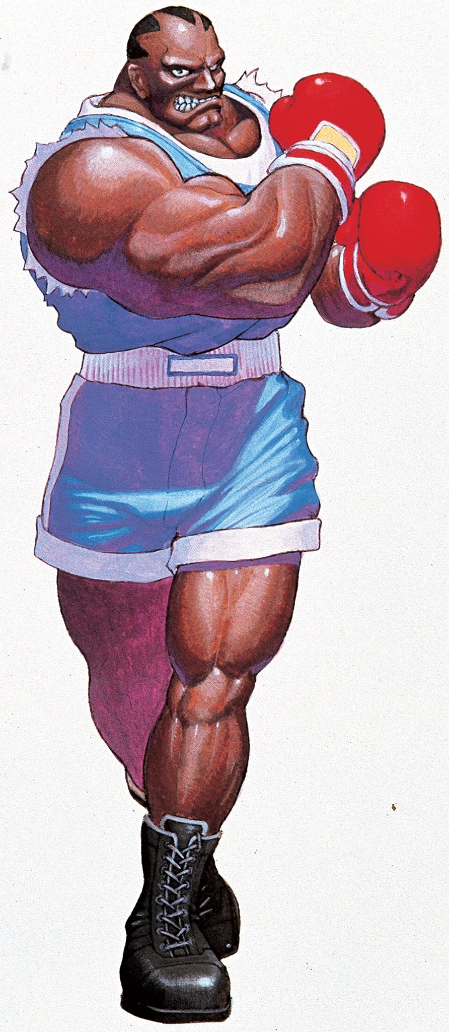 2b489a395 Balrog, as he appears in Super Street Fighter II. Art by Bengus.