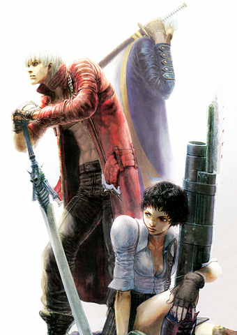 File:Dante Vergil and Lady.png