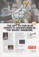 CapcomUSA-DisneyAdventuresInTheMiagicKingdom TheKeyToFun NesArt 1990
