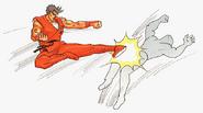 Guy Flying Kick
