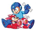 Mega Man and Rush