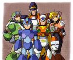 Mega Man X5 Group Photo