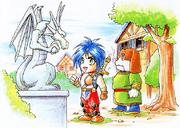 BoF II Dragon Statue
