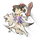Okamiden Chibiterasu and Kuni