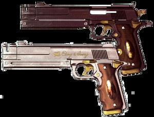Ebony and ivory guns
