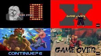 Street Fighter Evolution of Game Over (1987-2018)