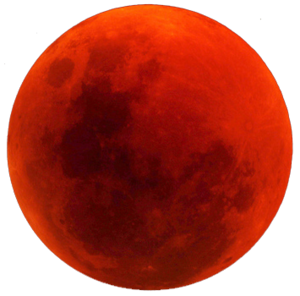 Blood moon transparent