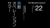 Episode 22 - Operation Summer - Title Slate