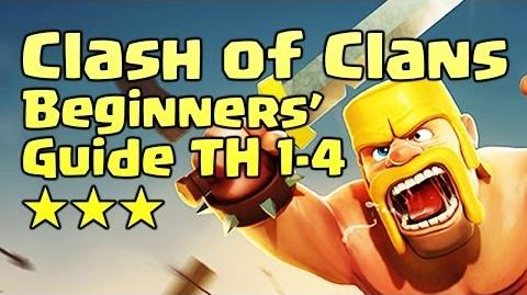 Clash of Clans - Beginners' Guide TH 1-4 - Tip Trick Attack Defense Strategy Farming - Android iOS
