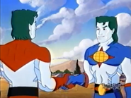 Captain Planet meets his future counterpart