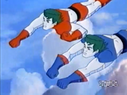 Present Captain Planet and Future Captain Planet Team up