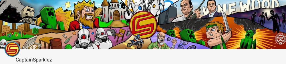 CaptainSparklez Channel Banner