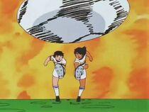 Hyuga and Tsubasa - Twin Shot