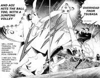 Tsubasa and Aoi - Jumping Overhead
