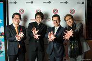 Yuji Naka, Yoichi Takahashi, Cedric Biscay, Yoshitaka Amano at MAGIC 2015