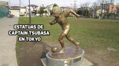 Las estatuas de Captain Tsubasa