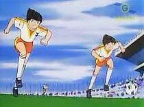 Tsubasa and Misugi Combi