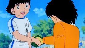 Tsubasa and Genzo (friendly rivals)