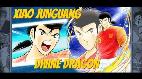 Captain Tsubasa Dream Team ( Xiao Junguang - Divine Dragon) All skills preview + Win Quotes