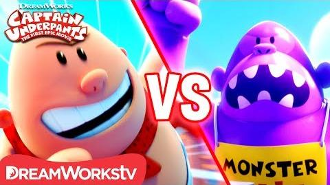 Captain Underpants vs Inflatable Ape CAPTAIN UNDERPANTS THE FIRST EPIC MOVIE